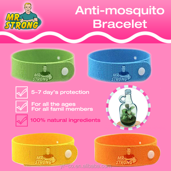 Deet Free All Natural Citronella Mosquito Insect Repellent Bracelet