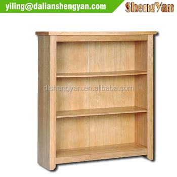 2014 nieuw ontwerp brede lage rustieke houten boekenkast te koop