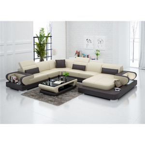 Modern home furniture set living room fashion sectional sofa G8002 series