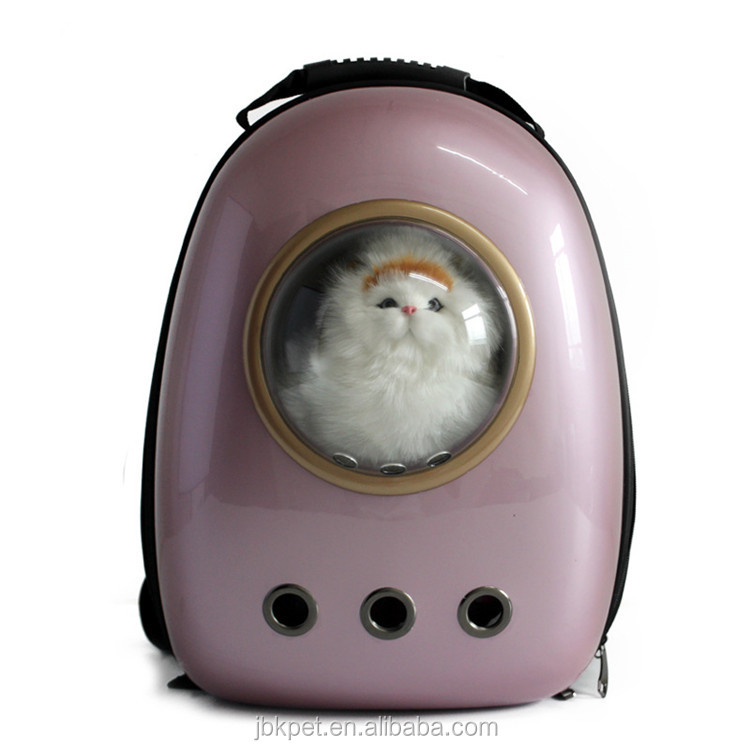 JBKPET Low moq pink pet cat carrier backpacks cheap price capsule cat backpacks
