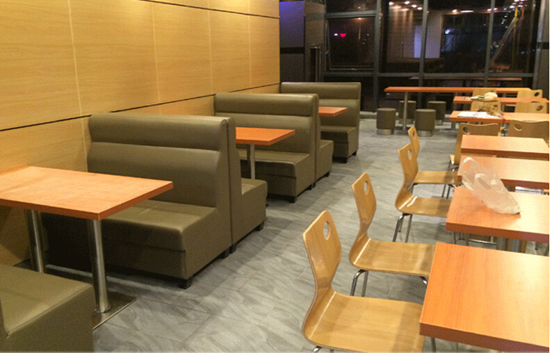 Restaurant Furniture/simple Design Leather Cover Restaurant Booth