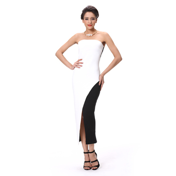 e3753768843 Best Dress For Farewell Party Asymmetric Sexy Black And White Dress ...
