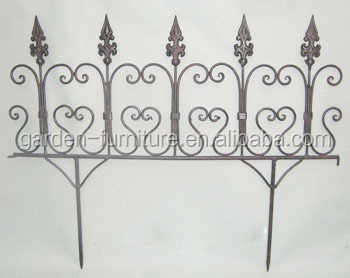 Metal Wrought Iron Garden Outdoor Supplies Decorative Iron Fence,metal Fence ,small Fences For