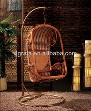 2014 Special Outdoor Rattan Swing Chair for single use is made by rattan