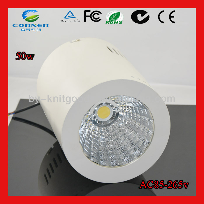 High quality sand white or black AC85-265v 50w 4100lm dimmable led <strong>downlight</strong>