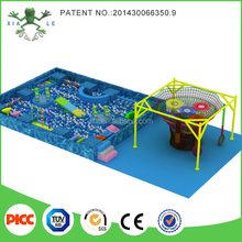 Children colorful climbing net and kids electric indoor obstacle course equipment