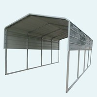 A-frame style single car parking shed and prefabricated carport