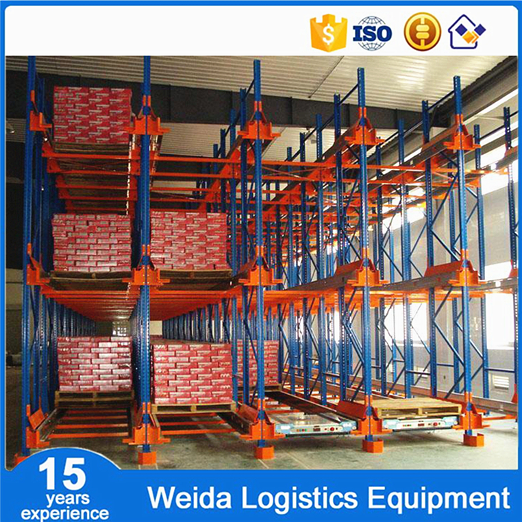 Heavy Duty FIFO Radio Shuttle Pallet Rack For Cold Storage
