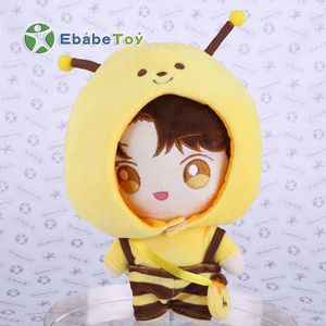 Hot sale OEM Handmade Customized Made Mascot Plush stuffed Toy Custom Plush Doll With Bee Cloth
