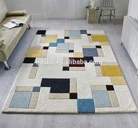 Fashion design superior quality carving geometric beige rug