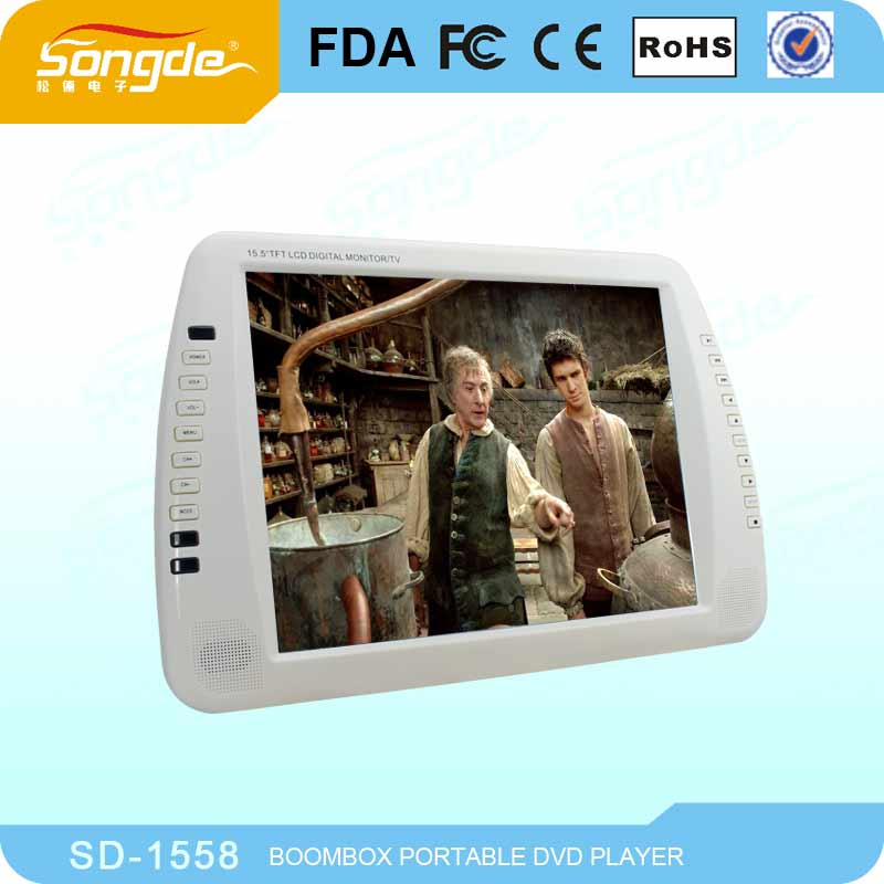 Big Screen 16 Inch Portable DVD Player with TV