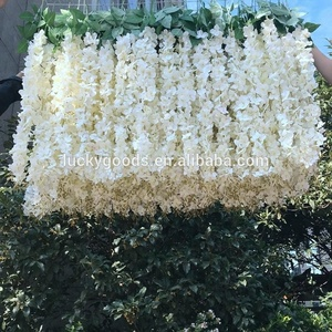 LFB757 hot sale wedding banquet party decoration artificial flat white hanging flower for sale
