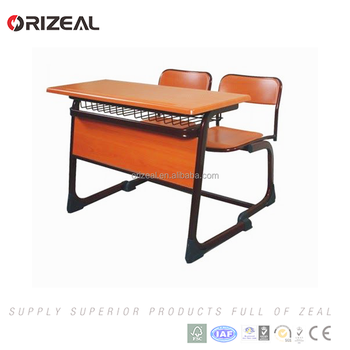 Wooden Double High School Furniture Classroom Chairs With Table For Student  Special Offer   Buy Classroom Furniture,School Desk Chair,Classroom Desk ...