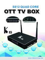Metal K6 2G 16G Amlogic S812 TV BOX External HDD SATA Hard Disk OTT TV BOX