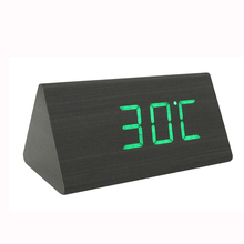 Hot Sale China Cheap Smart Wooden Desk Small LED Digital Clock