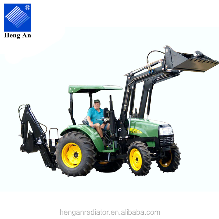 25HP 4WD Mini Tractor with Front End Loader and Back Hoe Loader