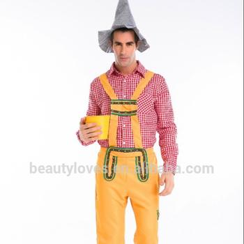 Bavarian Beer Man Lederhosen Oktoberfest German Adult Fancy Dress Mens  Costume 085ab9515a1a