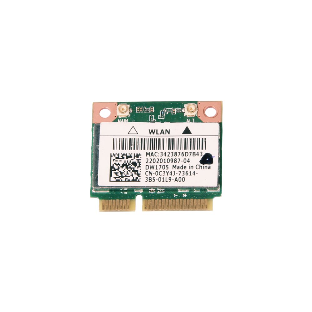 Dell DW1705 Half Mini PCI-E Card 802.11b/g/n Bluetooth 4.0 + HS/LE 2.4GHz Wireless Card