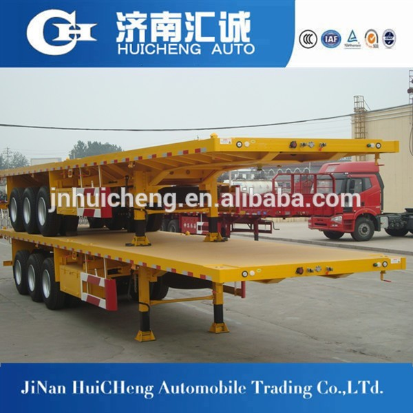 China Truck Trailer Supplier Supply 3 Axles Flatbed Semi Trailer ...