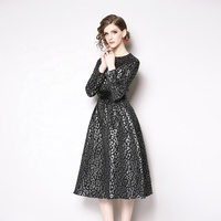 2019 New arrivals fashion high-end Jacquard dress stylish slim-fit cocktail dress