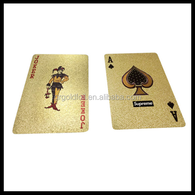 Customized Supreme 999.9 Gold Playing Cards - Buy 999.9 Gold Playing Cards,Japanese Playing ...
