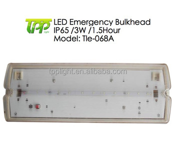 led emergency exit light 5w 1 5hour bulkhead non maintained ceiling