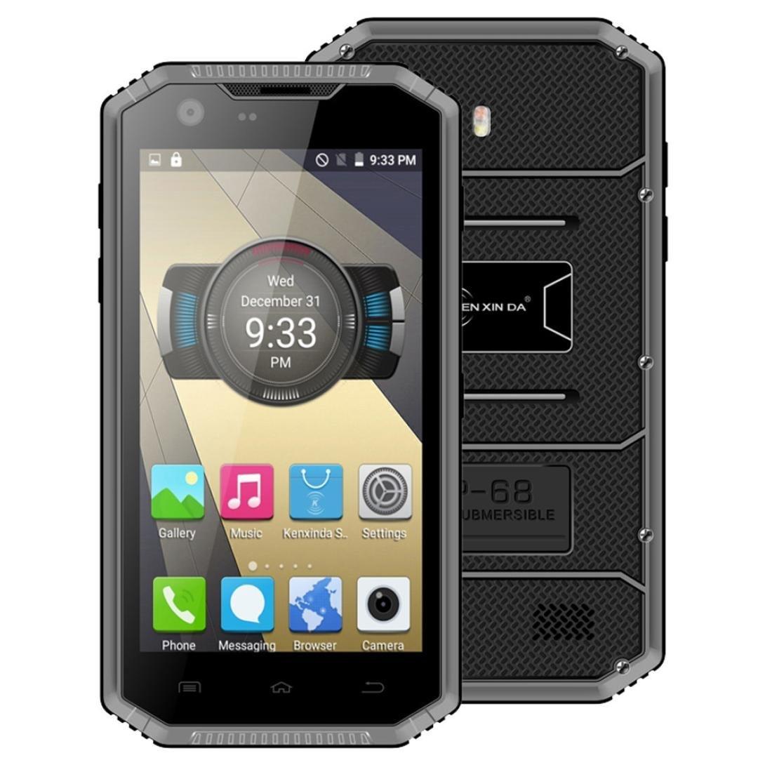 "AMA(TM) 5"" Kenxinda Proofings W7 4G LTE Smartphone - Unlocked Android 5.1 Octa Core 2GB RAM 16GB ROM IP68 Dual SIM Dual Standby Bluetooth 4.0 GPS Android Phone (Gray)"