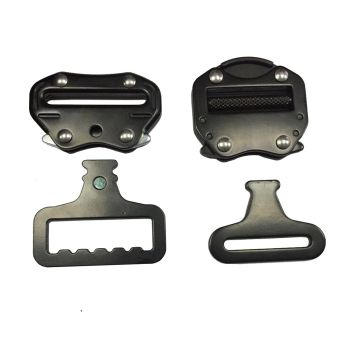50mm / 45mm /35mm / 25mm Black Metal Material Square Buckle