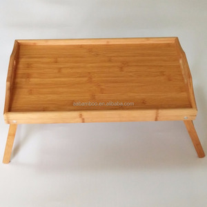 foldable breakfast bed serving tray wood for dinner