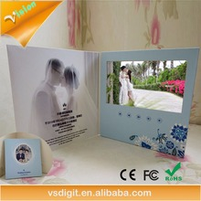 Low price custom invitation lcd video greeting card/ brochure card 5inch with High quality