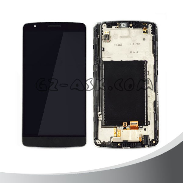 Wholesale LCD Display with Digitizer Assembly with frame For LG G3 Stylus D690 D690N display touch black
