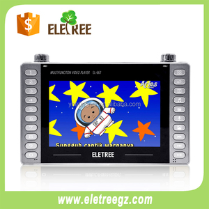HD Movies dv mp4 mp5 player learning kids with dvd #EL667