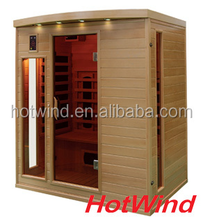 Far infrared sauna room with carbon fiber heater