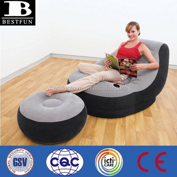Pleasing Heavy Duty Inflatable Chair And Ottoman Durable Comfort Flocking Blow Up Reclining Lazy Sofa Set Buy Inflatable Chair For Adult Inflatable Lounge Alphanode Cool Chair Designs And Ideas Alphanodeonline