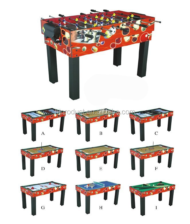 12 In 1 Family Play Kidu0027s Multi Game Table, 48inch Indoor Multi Functions  Combin Game
