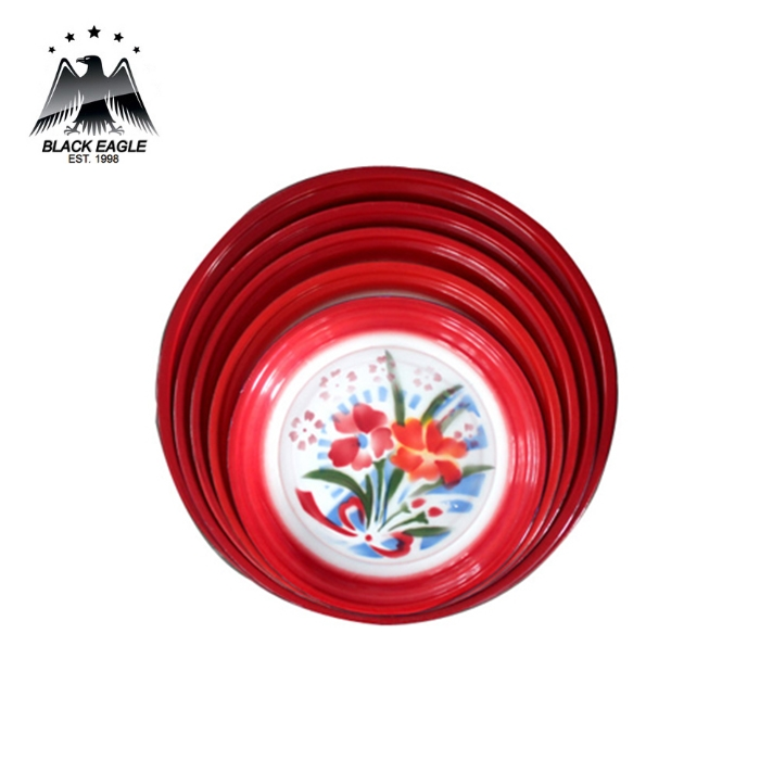 Colorful hot sale enamelware round tray