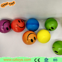 Hot sale children toys emoji ball smiley pu stree ball with many color
