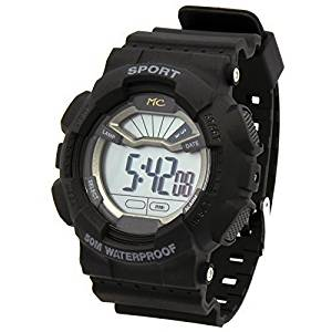 Mens Black Sport Shock Resistant LED Digital Wrist Watch with Alarm Water Proof Watches