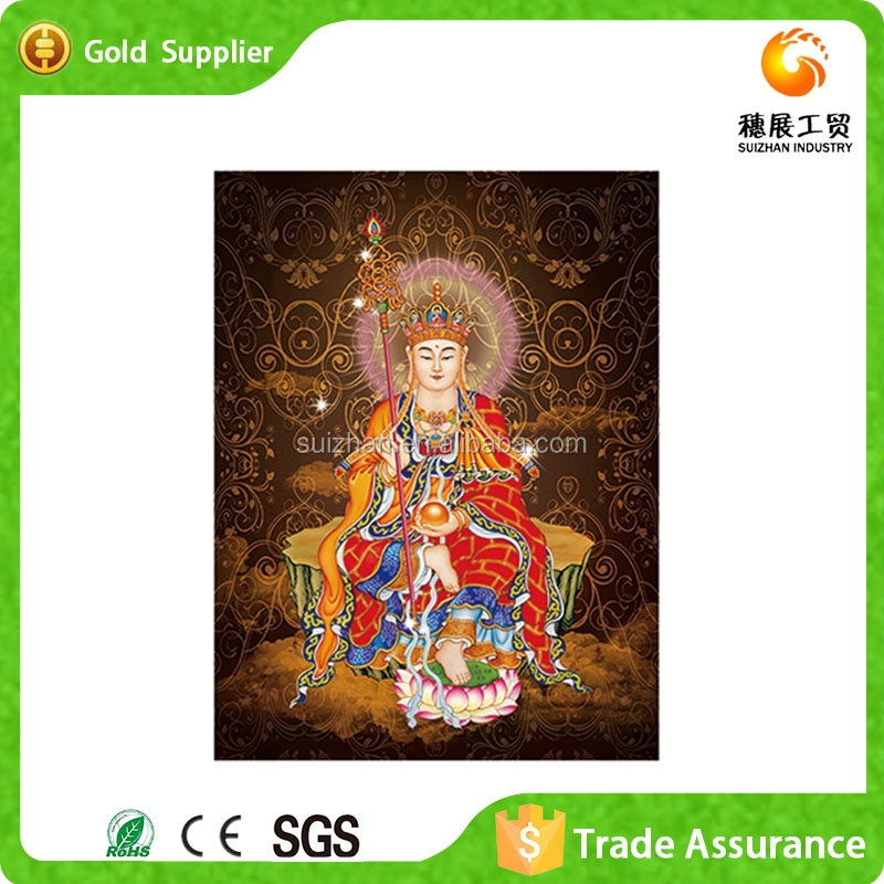 Factory Supply Luxury Buddha Face Painting Attached Unique Diamond Painting <strong>Art</strong>