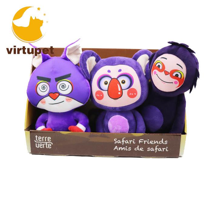 3 Conjunto púrpura perro de juguete de felpa Squeaky juguete para masticar Grande Mediano pequeño perros