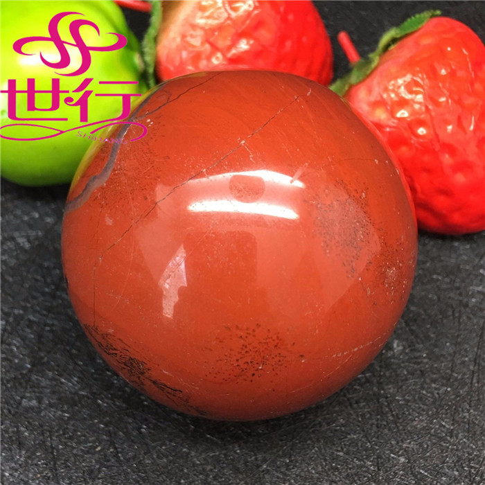 wholesale natural crystal spheres red jade stone balls