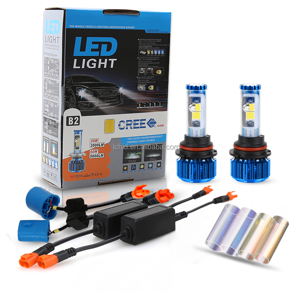 Factory price 9004 9007 led headlight bulb double beam h4 h13 electric car conversion kit
