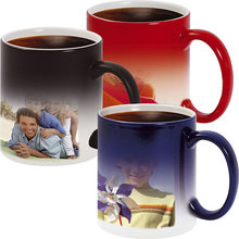 wholesale blank custom sublimation Printed color changing magic coffee mugs