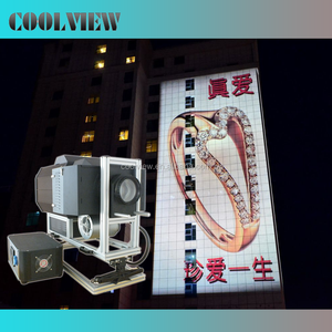 IP20 waterproof outdoor logo gobo building advertising 15000 ansi lumens projector for powerful image projection