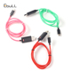 Wholesale EL Flowing Running Led Light Usb Charging Data Sync Cable