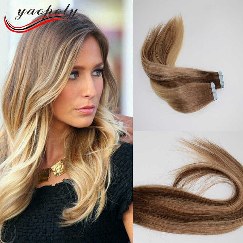 Double Drawn Tape In Human Hair Extensionswhite Organic Hairfull