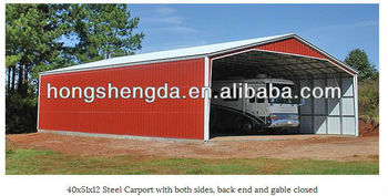 40'*51*12' steel carport with both sides,back end and gable closed