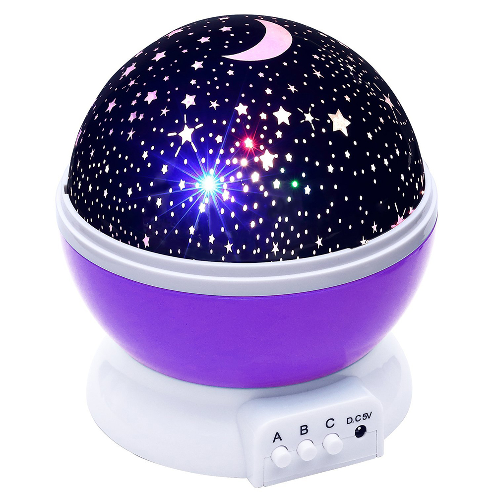 Rotating Starry Sky LED Night Light Star Projector Moon Lamp Battery USB Kids Gifts Children Bedroom Lamp Projection Lamp