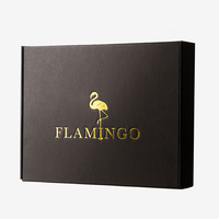5 Colors Custom Print Logo 3 ply corrugated box with e corrugated flute clothing shipping box