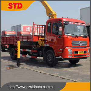 5 tons small automobile crane truck for sale